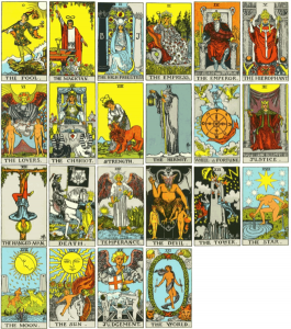 Major Arcana of Rider-Waite-Smith tarot