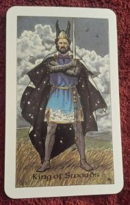 Photo of the King of Swords from the Robin Wood tarot
