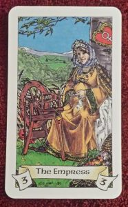 Photo of The Empress card from the Robin Wood tarot