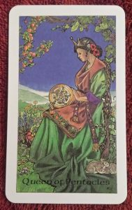photo of the Queen of Pentacles from the Robin Wood tarot