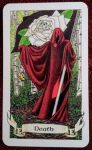 photo of the Death card from the Robin Wood tarot