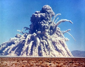 Photograph of nuclear explosion in the desert
